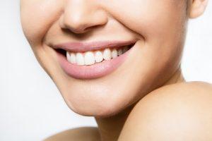A closeup of a women's smile